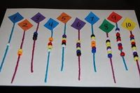 Spring Counting Kites: Counting Corresponding Numbers of Objects #math #preschool #kindergarten