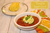 Simple Beef Chili with crock pot or stove top variations! #simplechili #crockpot