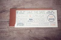 These are my save the dates! Vintage Typography Save the Date. $2.50, via Etsy.