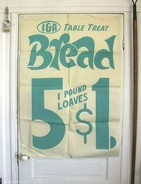 vintage grocery store window ad