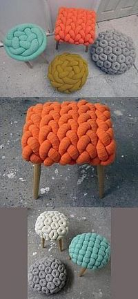 The prettiest wool stools