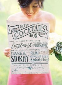 Wedding Cocktail signage. Adorable.