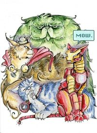 The Avengers as Cats