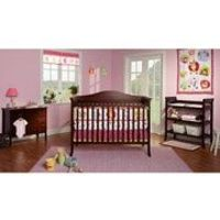 Baby Mod - Bella 4-in-1 Fixed Side Crib, Changing Table and Clothing Organizer, Espresso