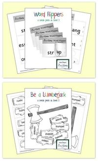 FREE downloads to practice 3-letter blends and 2 syllable words {LIMITED TIME FREEBIE!!}.