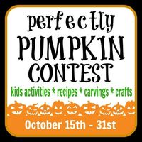 Visit B-InspiredMama.com on October 15th to enter your creative pumpkin ideas into the {PERFECTLY PUMPKIN CONTEST}! Winners will be chosen in the categories of Kids Activities, Recipes, Pumpkin Carving/Decorating, and Crafts.