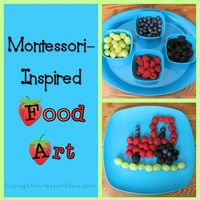 Montessori-inspired ideas for encouraging creativity and healthy eating - adaptable for any theme!