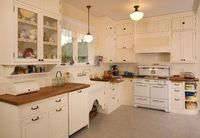 1920's Historic Kitchen - traditional - white kitchen - seattle - Sadro Design Studio Inc.