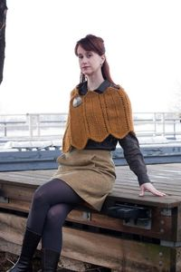 A new pattern from one of my faves--Robin Melanson-- This pattern, Katrien, is from her new line: di Corvidae. It is meant to be worn over layers to provide additional warmth on the shoulders, and the pattern calls for Lopi (I love Lopi!). A defin...