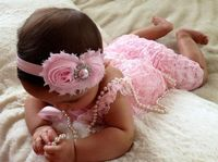 Light Pink Vintage Lace Petti Romper by MyLilSweetieBoutique, $22.95