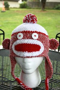 Hoosier, the Indiana University Sock Monkey Hat!!!
