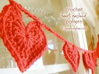 Crochet Heart Garland Pattern
