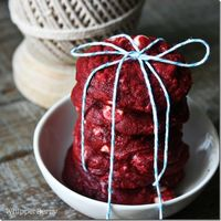 Red Velvet Cookies with White Chocolate Chunks