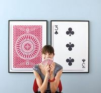 DIY playing cards wall art; perfect for a game room #cards #game #home #wall #decor #art #DIY #d.i.y