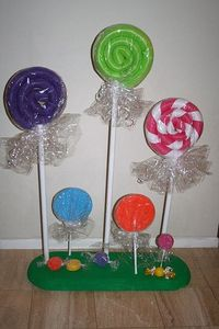 Lollipops Large Ones Made From Swimming Pool Noodles Crea Christmas Xmas Ideas Juxtapost