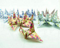 set of 50 origami paper cranes 10cm*10cm, colorful origami paper,home and wedding decorationcustom orders welco