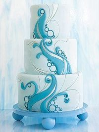This abstract cake design really appeals to me :-) Anyone know who created it?