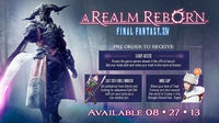 August, Final Fantasy XIV: A Realm Reborn Released