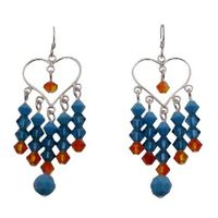 Whether you want something glittering for the cocktail hour or elegant for every day these beautiful Sterling silver 92.5 framed Turquoise Blue chandelier earrings suit every taste & age making it a terrific gift to give yourself or someone special. ...