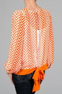 Orange Chevron Blouse - SUPER cute!!