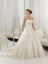 pretty ballgown with lace