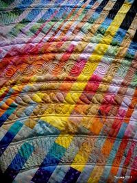 Quilting completely changes this quilt.