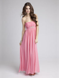 Empire Strapless Chiffon Ankle-length Draping Evening Dresses