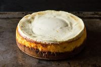++ Meyer Lemon Cheesecake with Biscoff Crust-- Summer treat.