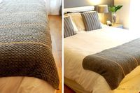 Striped bed end cover (+free pattern)