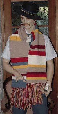 Free Knitting Pattern: Tom Baker's Dr Who Scarves