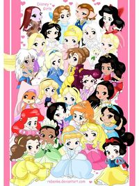 Chibi-princess-girls Disney