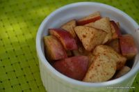 Cinnamon apples, a fall treat from