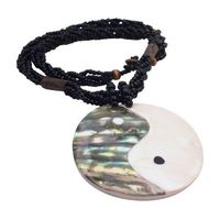 An exquisite choker which is consisting of Read small bead strung together in thick single strand with Round shell Pendant. The most focal point of this Necklace is Round Pendant with Shiva Eye half abalone & half shell. Which is really unique style. ...