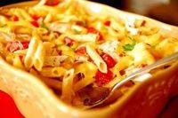 Smoked Gouda, Chicken & Bacon Pasta -- really yummy and can make ahead!