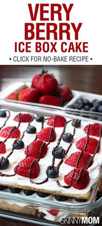 Very Berry Ice Box Cake!!!! Yumm perfect dessert for 4th of July :)