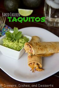 Baked Chicken Taquitos | Dinners, Dishes, and Desserts