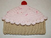 Crochet Creative Creations- Free Patterns & Instructions: Crochet Cupcake Hat