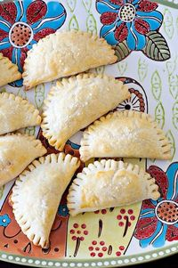 Ham and Cheese Hand Pies. Could also use pepperoni and cheese... the possibilites are endless!
