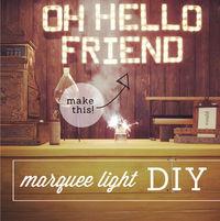 DIY MARQUEE LIGHT w/ cardboard