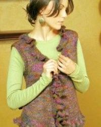 La Boheme Ruffled Vest Knitting Pattern
