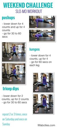weekend challenge; the slo-mo toning workout