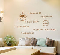 Coffee Time Quote Wall Sticker
