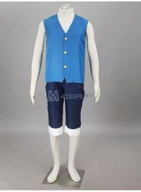 One Piece Monkey.D.Luffy 2nd Cosplay Costume