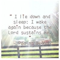 Psalm 3:5 ~ The LORD sustains me! this would be great for over the bed!