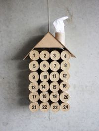 Toilet roll Advent calendar.