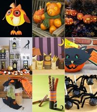Halloween crafts and bear pumpkin
