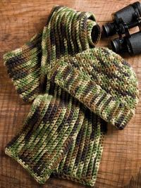 Mans hat and scarf pattern