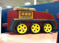 Children's Vintage Ride On Train, look how adorable. This treasure is priced as low as $45! You can find it at the Goodyear Armadillo, http://phoenix.craigslist.org/wvl/tag/3074680060.html#