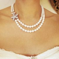 Starfish Bridal Necklace Beach Wedding Necklace by luxedeluxe, $98.00