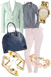 Pastel and Navy
